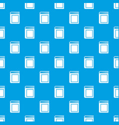 Thick book pattern seamless blue vector