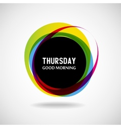 Thursday vector image