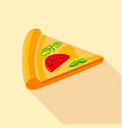 Vegetarian pizza icon flat style vector