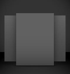 Vertical black posters flyers mockup vector
