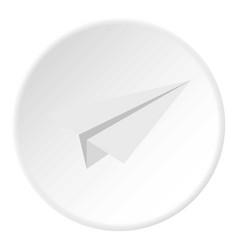White paper plane icon circle vector
