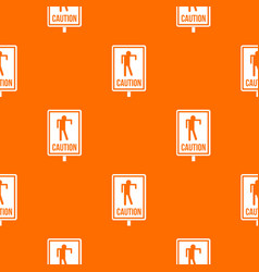 Zombie road sign pattern seamless vector