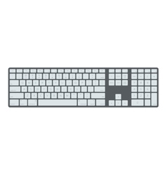 Black laptop computer keyboard template vector image