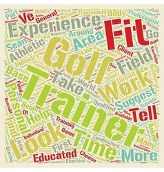 How to choose a golf fitness trainer text vector