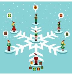 Christmas social media network vector image