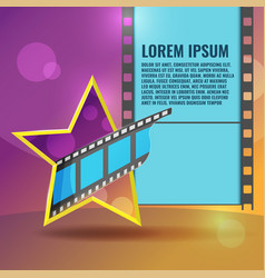 Star movie film entertainment background vector