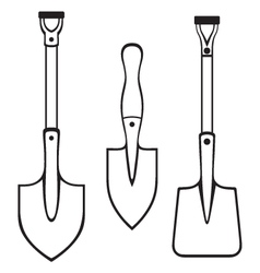 Shovels and spades vector