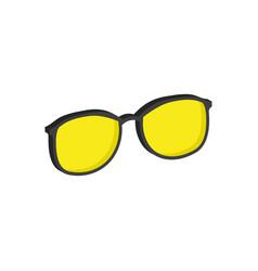 Yellow glasses eyeglasses symbol flat isometric vector