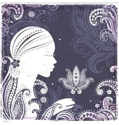 Beautiful Fashion Girls silhouette vector image