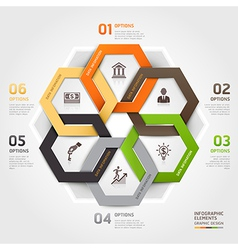 Business management circle origami style vector