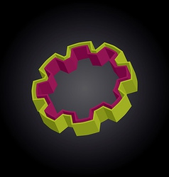 3D gear vector image