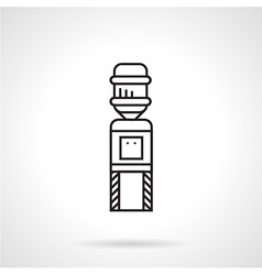 Flat line water cooler icon vector