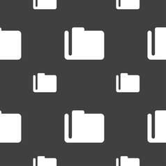 Document folder icon sign seamless pattern on a vector