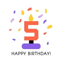 a Happy Birthday vector image vector image