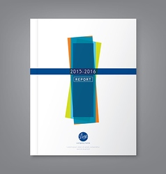 Annual report book cover brochure flyer template vector