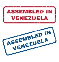 Assembled in venezuela rubber stamps vector