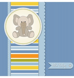 Baby boy announcement card with elephant vector