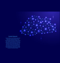 bhutan map of polygonal mosaic lines network rays vector image vector image