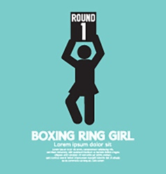 Boxing ring girl symbol vector