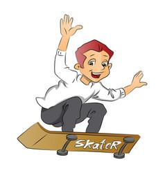 boy on a skateboard vector image
