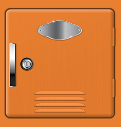brown storage safe box vector image vector image