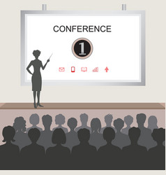conference room people at the conference hall vector image