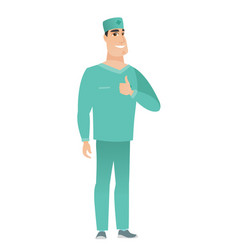 Doctor giving thumb up vector