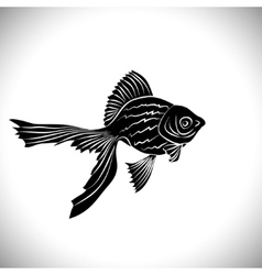 Goldfish cards black silhouette vector