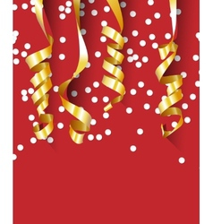 Happy birthday background with paper gold vector
