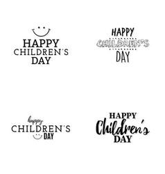 happy children day vector image vector image