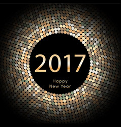 Happy new year 2017 background calendar vector