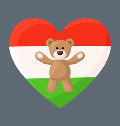 Hungarian teddy bears vector