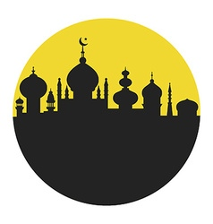 Islamic city in a circle vector