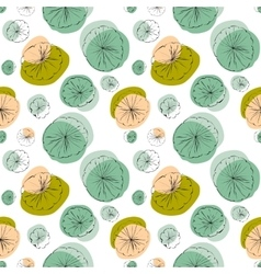 Lily pad seamless pattern vector