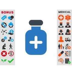 Medication vial icon vector
