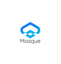 modern style mosque architecture building logo vector image