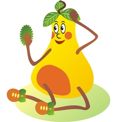 Pear cartoon vector image vector image