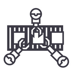 robotics industry line line icon sign vector image