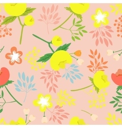 seamless pattern with beautiful flower vector image vector image
