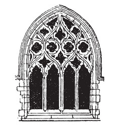 Small gothic window tracery during the fourteenth vector