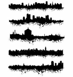 urban silhouette vector image vector image