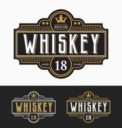 Vintage frame label design suitable for whiskey vector