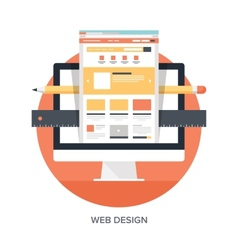 Web Design and Development vector image