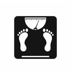 Weight scale icon simple style vector image vector image