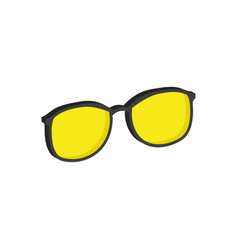 Yellow glasses eyeglasses symbol flat isometric vector