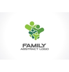 Abstract green logo for business company people vector