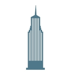 Building skyscraper construction silhouette icon vector