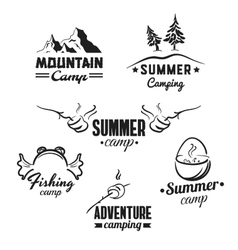 Camping Badges Set vector image
