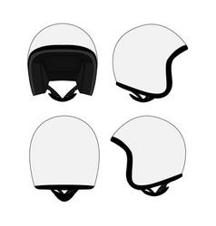 Motorcycle helmet template vector