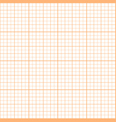 Orange inch graph paper seamless pattern vector